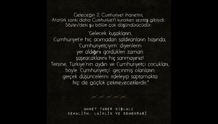 Atatürk bugünkü sözde Atatürkçüleri bakın nasıl da tanımlıyor...