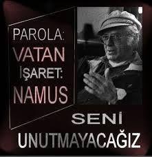 """""""Parola Vatan, İşareti Namus"""""""