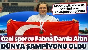 Fatma Damla Altın, pentatlonda dünya şampiyonu oldu: Mehmetçiklerimiz ile şehitlerimize armağan ediyorum