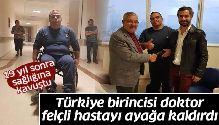 Türkiye birincisi doktor felçli hastayı ayağa kaldırdı