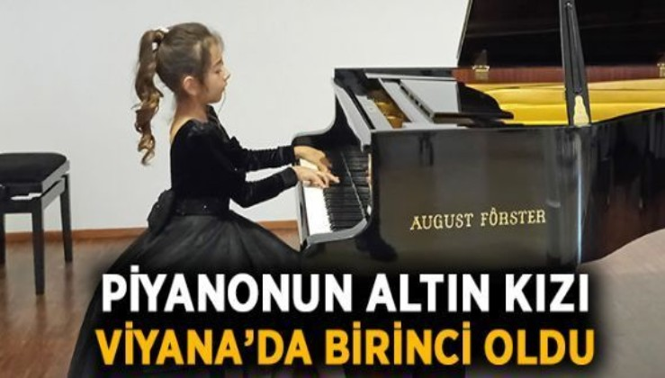 """Piyanonun """"altın kızı"""" Nil Göksel Viyana'dan birincilikle döndü"""