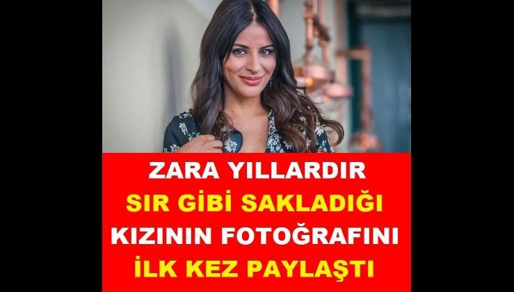 Şarkıcı Zara, gözlerden uzak tuttuğu kızı Nur'un fotoğrafını ilk kez paylaştı
