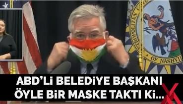 ABD'de belediye başkanı 'IKBY' maskesi taktı