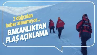 Uludağ'da kaybolan 2 dağcıyla ilgili İçişleri Bakanlığı'ndan açıklama.