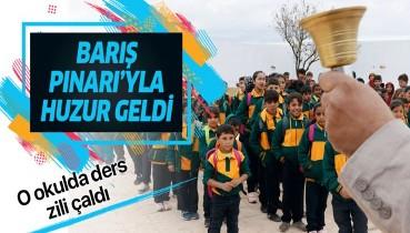 Barış Pınarı'yla huzur geldi! Türkiye'nin onardığı Tel Abyad'daki okul eğitime açıldı.