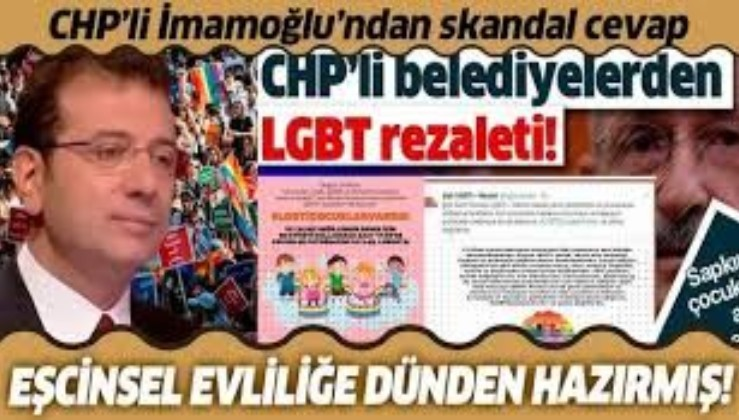 Ekrem İmamoğlu'ndan Eşcinsel evliliğe destek!