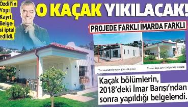 Sözcü yazarı Yılmaz Özdil'in Bodrum'daki villasının kaçak bölümleri için yıkım kararı