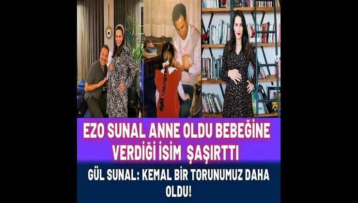 Rahmetli Kemal Sunal'ın kızı Ezo Sunal anne oldu