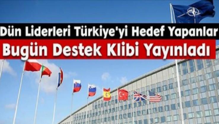 Dün Liderleri Türkiye'yi Hedef Yapanlar Bugün Destek Klibi Yayınladı