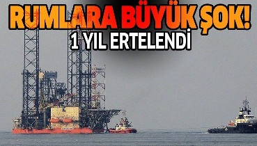 Son dakika: Rum yönetimine Doğu Akdeniz'de büyük şok! 1 yıl ertelendi