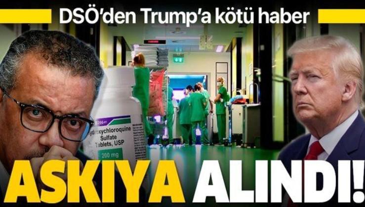 """DSÖ Kovid-19 hastalarında denenen """"hidroksiklorokin"""" adlı ilacın kullanımını askıya aldı"""