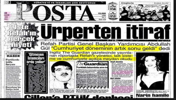 Abdullah Gül'ün 23 yıl önce The Guardian'a verdiği röportajdaki 'Türkiye'de Cumhuriyet'in sonu geldi' sözleri yeniden gündemde