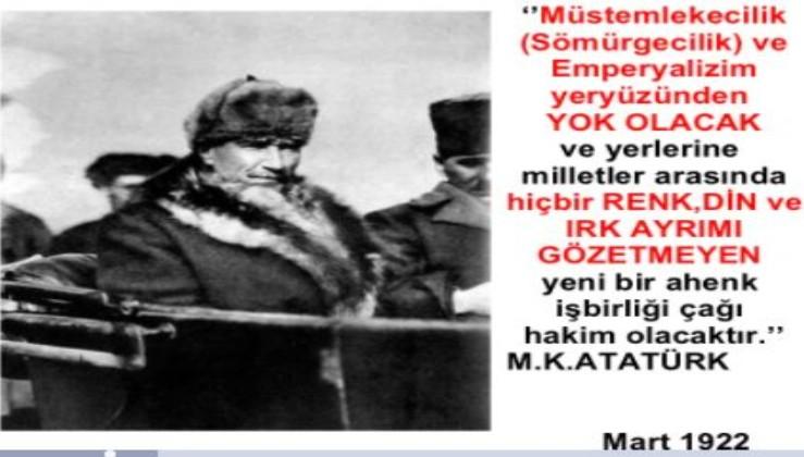 Unutturulmak istenen Atatürk!