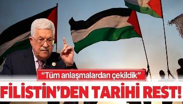 Son dakika: Mahmud Abbas duyurdu: Filistin İsrail ve ABD ile varılan tüm anlaşmalardan çekildi