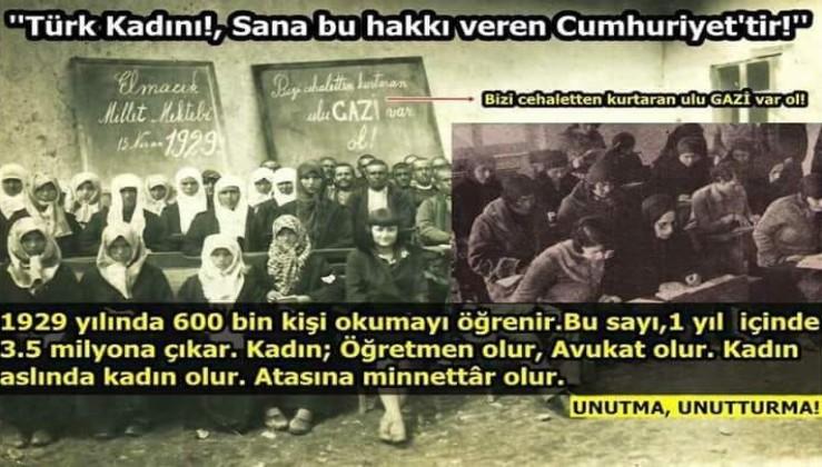 Türk kadını ve Cumhuriyet