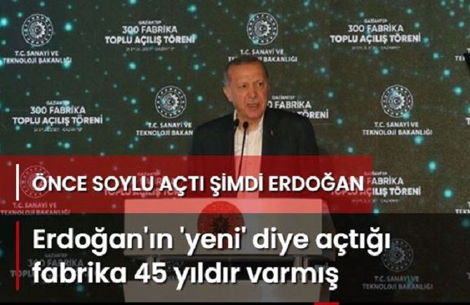 Erdoğan'ın 'yeni' diye açıılışını yaptı..