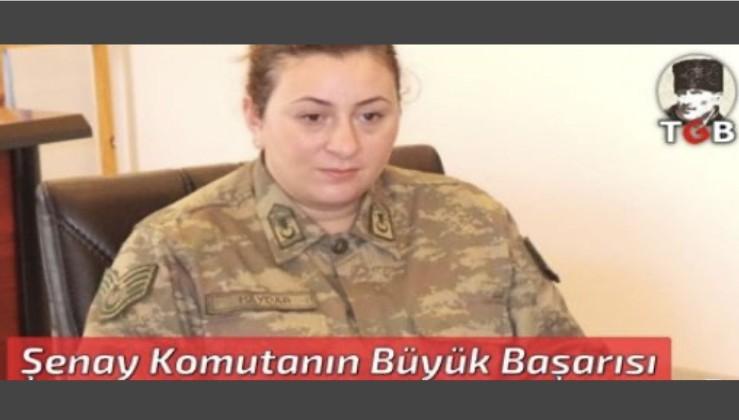 Türkiye'nin ilk kadın Karakol Komutanı Şenay Komutanın Büyük Başarısı