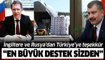 Son dakika: İngiltere ve Rusya Sağlık Bakanlarından tıbbi malzemeler için Türkiye'ye teşekkür