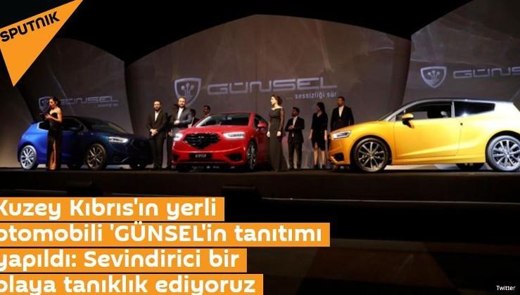 Kuzey Kıbrıs'ın yerli otomobili 'GÜNSEL'in tanıtımı yapıldı: Sevindirici bir olaya tanıklık ediyoruz