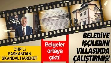 Adana Büyükşehir belediye başkanı belediye işçilerini villasında çalıştırdı.