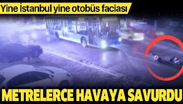 Son dakika: İstanbul'da halk otobüsü dehşeti kamerada! Turistler neye uğradığını şaşırdı.