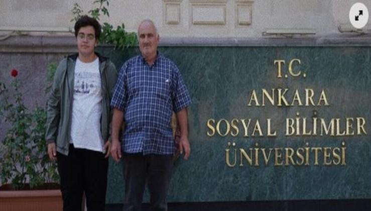 Babası oğlunu değil oğlu babasının kayıt mutluluğuna ortak oldu!