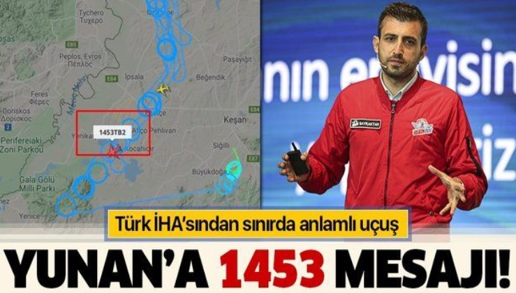 Yunan sınırında anlamlı devriye! Dikkat çeken 1453 detayı