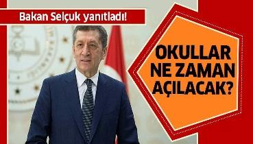 Milli Eğitim Bakanı Ziya Selçuk açıkladı!