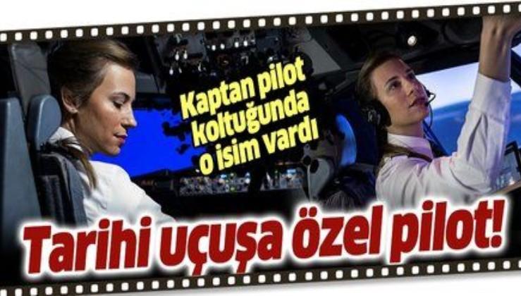 THY'nin 19 Mayıs özel uçuşunda en genç kaptan pilotu Selin Sevimli görev aldı