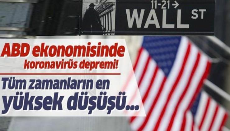 ABD ekonomisinde koronavirüs depremi! Tüm zamanların en büyük düşüşü...