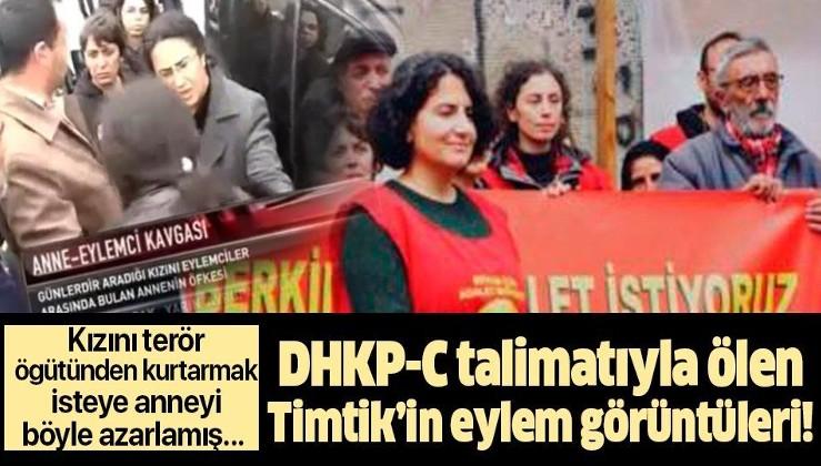 Açlık grevinde ölen DHKP-C'li Ebru Timtik kızı Alev Emir'i terör örgütünden kurtarmaya çalışan anne Güler Emir'e bağırmış!