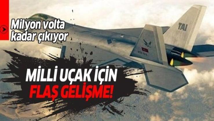 Yerli ve milli savaş uçaklarımız için yüksek gerilim testi!