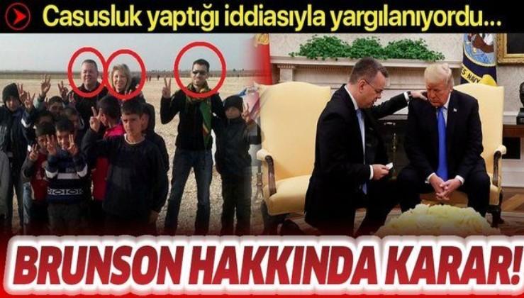 Son dakika: Yargıtay Cumhuriyet Başsavcılığı Rahip Brunson'un hapis cezasının onanması istedi.