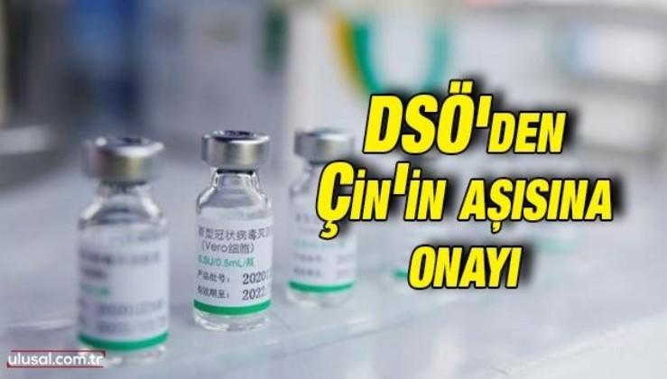 DSÖ'den Çin'in Sinopharm aşısına acil kullanım onayı