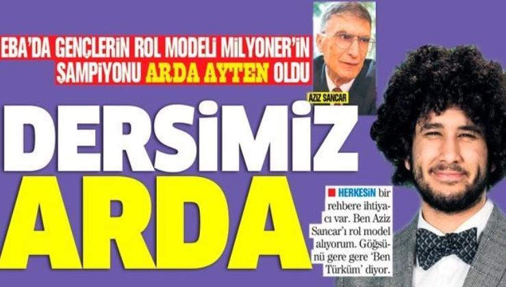 EBA'da gençlerin rol modeli Milyoner'ın şampiyonu Arda Ayten oldu