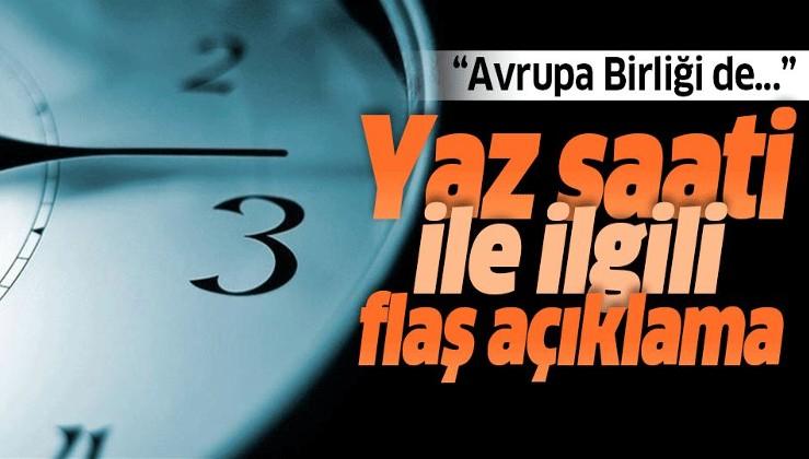 """Enerji Bakanı Fatih Dönmez'den """"yaz saati"""" açıklaması."""