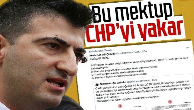 CHP'de yer yerinden oynayacak! İzmir Milletvekili Mehmet Ali Çelebi olay mektubu paylaştı