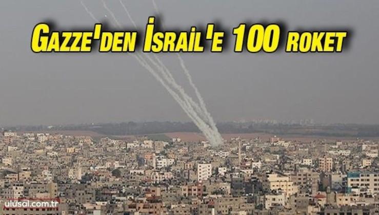 İsrail'in Filistin'e saldırına cevap: Gazze'den 100 roket atışı geldi