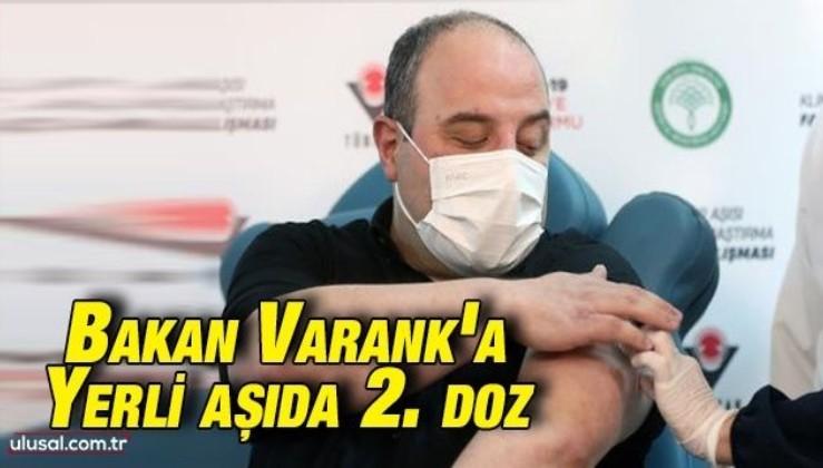 Bakan Varank'a yerli aşıda 2. doz