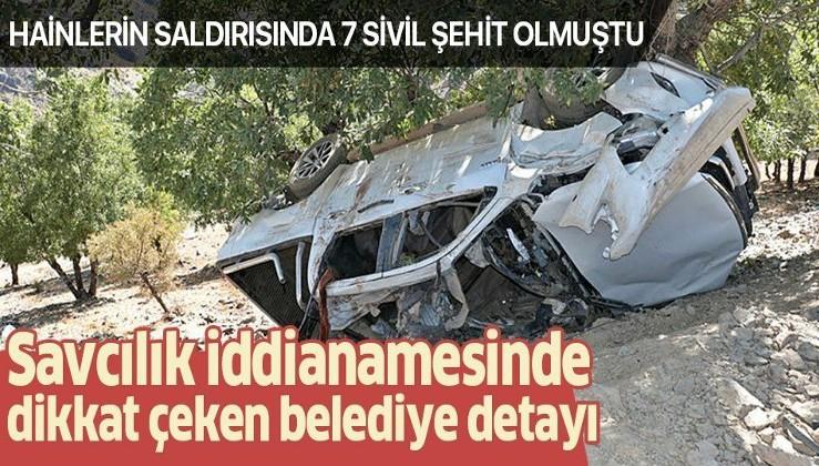 PKK'nın yaptığı ve 7 sivilin şehit olduğu Kulp saldırısında dikkat çeken detay: Belediye yol çalışması yapmış!.