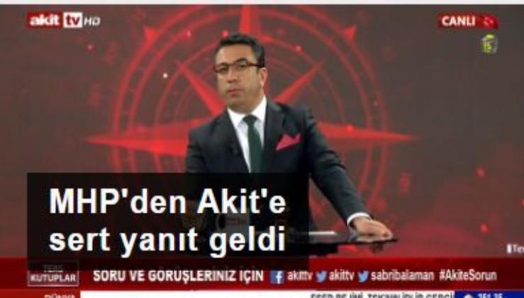 AKİT Millet ittifakına mı geçiyor: MHP'den Akit'e sert tepki: