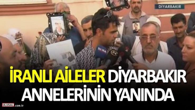 Çocukları PKK tarafından kaçırılan İranlı 5 aile, Diyarbakır'da HDP binası önünde