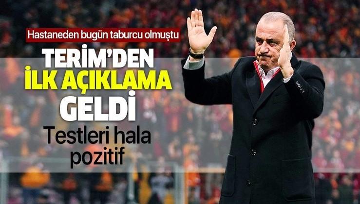 Galatasaray Teknik Direktörü Fatih Terim'den ilk açıklama! Taburcu olmuştu