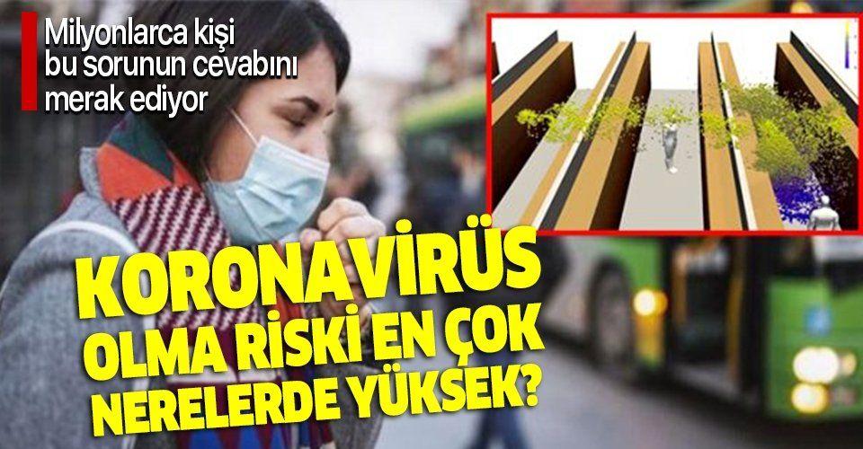 Bilim insanları ilk kez açıkladı! Koronavirüs olma riski en çok nerelerde yüksek?