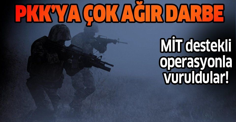 Son dakika: MİT'le koordineli operasyonda, 2'si sözde yönetici 6 PKK/YPG'li etkisiz hale getirildi.
