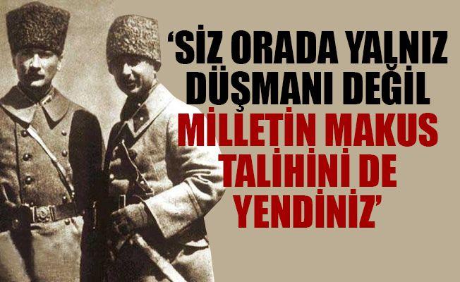 """Erdoğan: """"Gazi Mustafa Kemal'in 'Yeni Türkiye devletinin küçük, ancak milli ülkülü genç ordusu, en dar bir hesapla üç kat düşmanı İnönü Meydan Savaşı'nda yendi' sözleriyle anlattığı zafer,"""