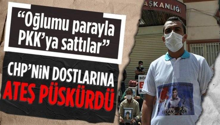 """Evlat nöbetindeki baba: """"Çocuklarım PKK'ya satıldı! Artık herkes HDP'nin iç yüzünü görsün"""""""