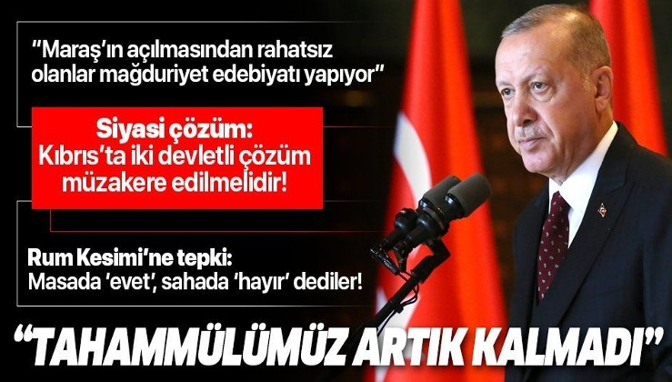 Cumhurbaşkanı Erdoğan'dan KKTC'de Doğu Akdeniz mesajı