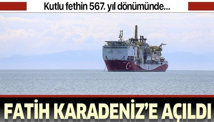 Fatih sondaj gemisi kutlu fethin 567. yıl dönümünde Karadeniz'deki ilk sondaj için uğurlandı