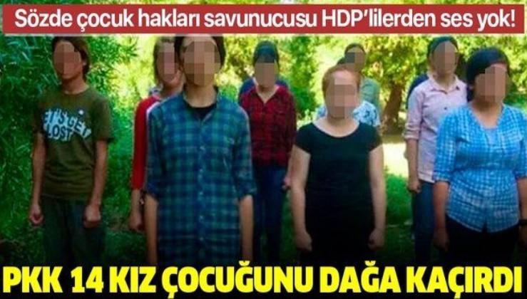 Kaçacak mağaraları kalmayan PKK'lı teröristler 14 kız çocuğunu kandırıp dağa çıkardı